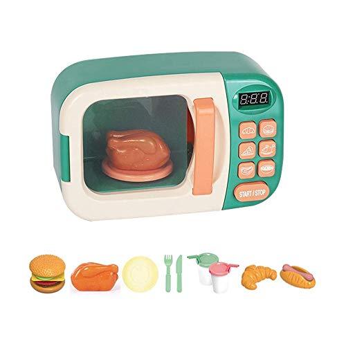 SYXX Toy Set da Cucina for Bambini, Ragazzo e Ragazza di Simulazione Utensili da Cucina, Finge i Giocattoli Giochi, Timer Elettrico Microonde Bambini Piccoli elettrodomestici, Cucina Kitchen Set
