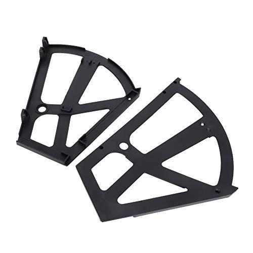 Petyoung Home - Estante de plástico hueco de dos capas para zapatos, accesorio para dormitorio, sala de estar y entrada (negro)