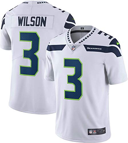 Nike Russell Wilson Seattle Seahawks NFL Boys Youth 8-20 White Road Vapor Untouchable Limited On-Field Jersey (Youth Large 14-16)