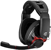 Sennheiser GSP 600 - Auriculares Cerrados para Juegos Profesionales, Color Negro y Rojo, One-Size