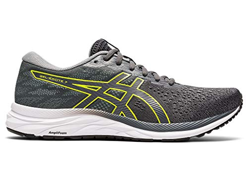 ASICS Men's Gel-Excite 7 (4E) Running Shoes, 9.5XW, Carrier Grey/Lime Zest