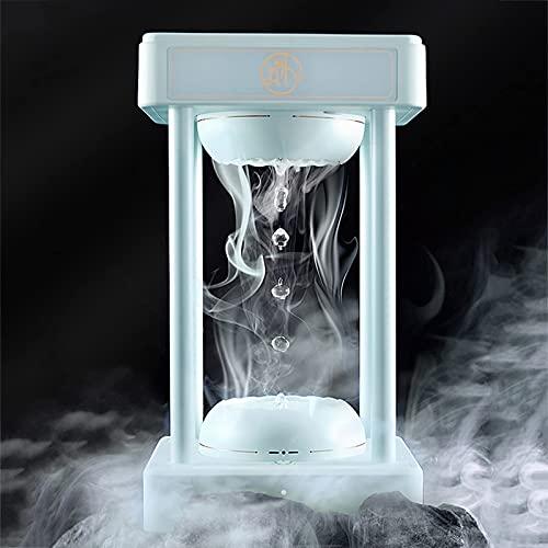 SFSGH Gota de Agua Flotante de levitación antigravedad, Modo táctil de 1 botón de 3 Niveles, con iluminación de lámpara de Escritorio, indicador de Estado, decoración Creativa del hogar,