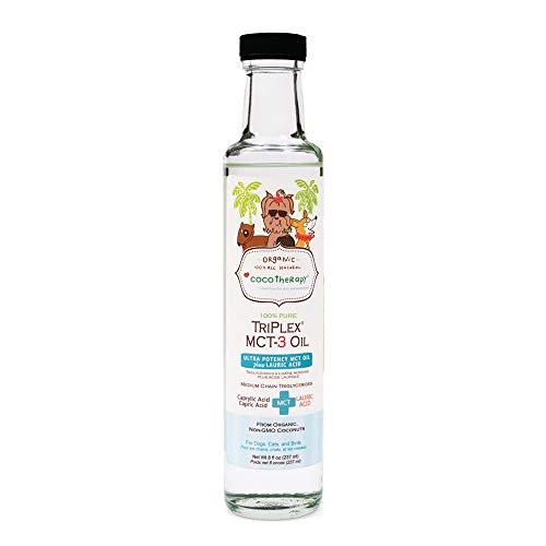 CocoTherapy Triplex MCT-3 Oil, Non-GMO, 100% Pure and Natural, 8 oz.