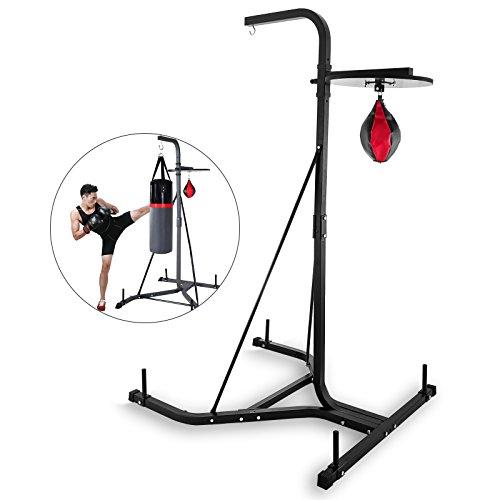 OldFe capacità 60kg Boxing Stazione Altezza 200cm Kit da Boxe Sacco da Boxe da Supporto Robusto...