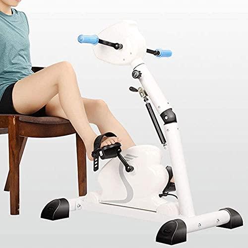 RRB Pedale ginnico elettrico Anziani Arti superiori e inferiori Pedale elettrico Trainer Mini corsa pieghevole Riabilitazione braccia e ginocchia emiplegiche Attrezzature per il fitness-bianco