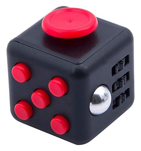 Cool Fidget Cube Vinyl Schreibtisch Spielzeug Kinder Schreibtisch Spielzeug Erwachsene Stress Relief Würfel (rot/schwarz)