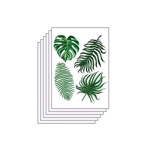 LPxdywlk 6Pcs Nordic Palm Leaves Aufkleber Kinderzimmer Schlafzimmer Home Decorative Wandtattoos Grün