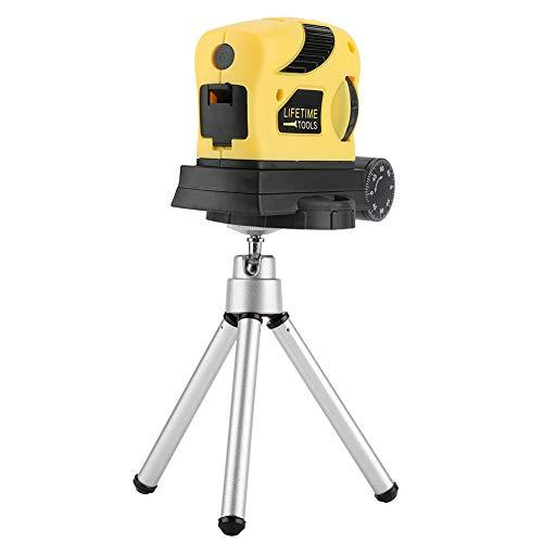 Laser Wasserwaage, Horizontale Ebene multifunktions Level mit Stativ, ABS Kunststoffschale, 100% nagelneu, Gelb, 8,3 * 3,3 * 6 cm