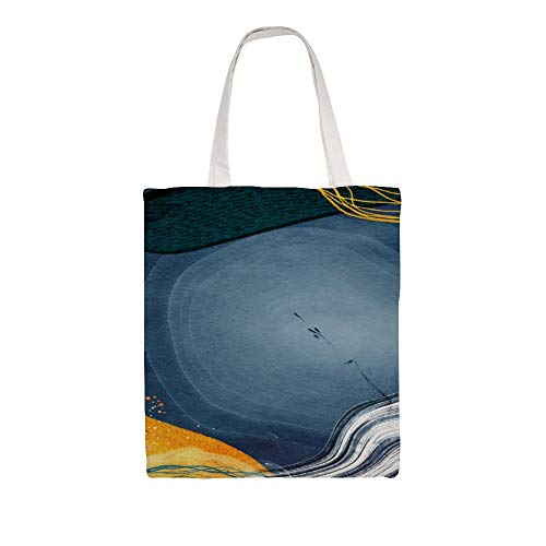 Cloth Shoulder Grocery Shopping Bags, Neo Memphis Social Natural Canvas Tote Bag, Reusable Shopping Bag