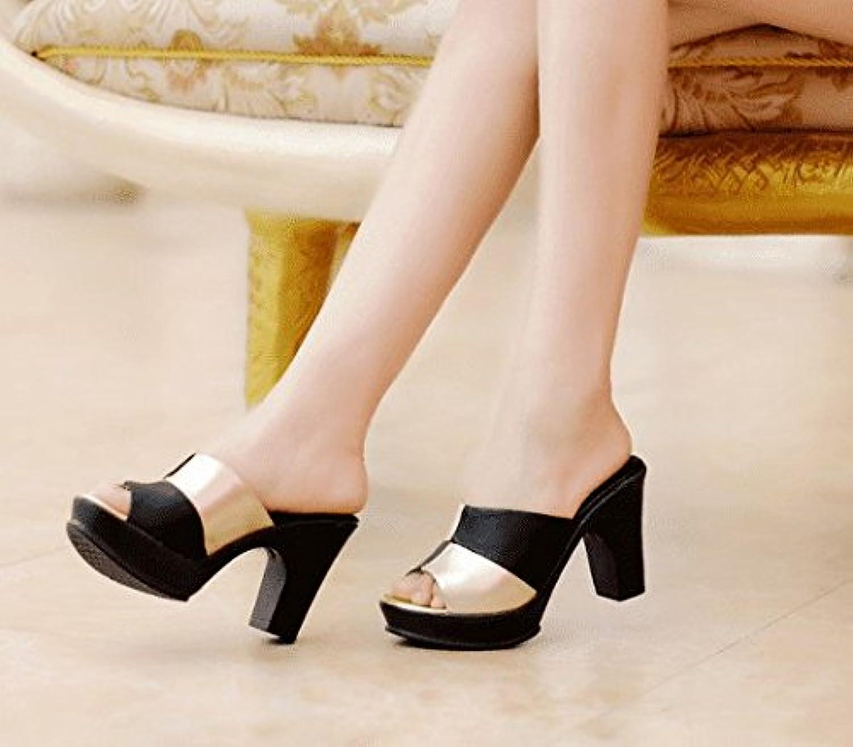 AWXJX damen flip flops flops awxjx Sommer Damen Flip Flops-Wasserdicht High Heel Dick mit Oberbekleidung  kostenloser Versand & Umtausch.