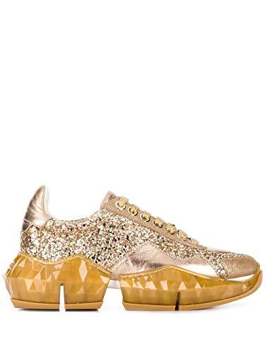 JIMMY CHOO Luxury Fashion Donna DIAMONDFXBZGOLDIEMIX Oro Glitter Sneakers | Primavera-Estate 20