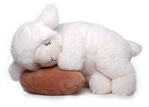 Inware 6235 - Schlafendes Schaf Sleepy, mit Schmusekissen, 25 cm, Kuscheltier, Plüschtier