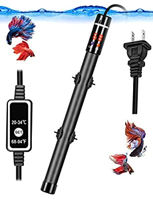 Aquarium Heater, 300W 500w Submersible Fish Tank Heater with Titanium Tube Thermostat System LED Digital Play and Remote Controller for 50-80 Gallon Tank