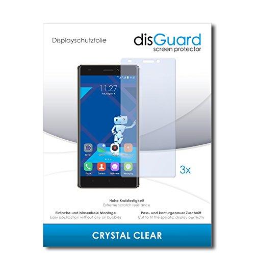 disGuard® Bildschirmschutzfolie [Crystal Clear] kompatibel mit Haier Phone L53 [3 Stück] Kristallklar, Transparent, Unsichtbar, Extrem Kratzfest, Anti-Fingerabdruck - Panzerglas Folie, Schutzfolie