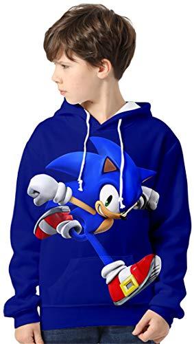 Silver Basic Niños Sonic The Hedgehog Traje de Sudadera con Capucha Sonic...