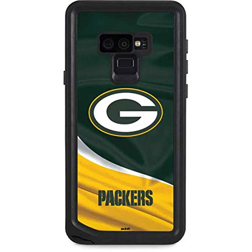 Skinit Waterproof Phone Case Compatible with Galaxy Note 9 - Officially Licensed NFL Green Bay Packers Design