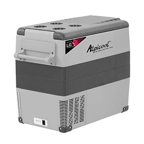Alpicool CF55 Car Refrigerator, 55L Portable Mini Freezer 12v Campervan Car Fridge Boat DC Electric Cooler for Camping, Driving, Boat, Picnic