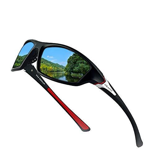 GRAFIT Unisex Polarised Sports Sunglasses Design for Ski Baseball Golf...