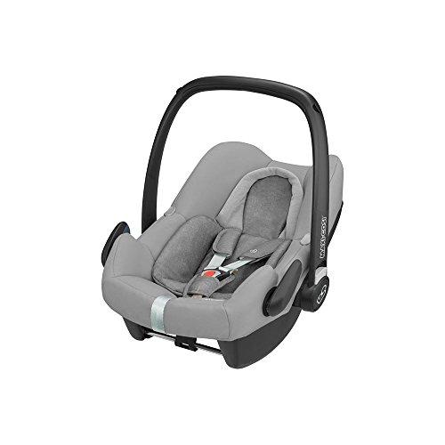 Maxi-Cosi Rock Babyschale, sicherer i-Size Babyautositz, Gruppe 0+ (0-13 kg), nutzbar ab der Geburt bis 12 Monate, Babysitz Auto, nomad grey, grau