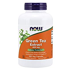 top 10 green tea pill NOW Dietary Supplement, Green Tea Extract, 400 mg with Vitamin C, Cell Protection *, 250 Vegetarian Capsules