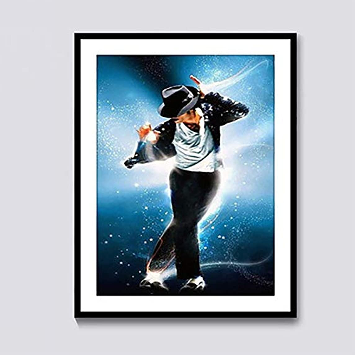 Diamond Painting Michael Jackson 12X16 inches 5D DIY Full Round Drill Rhinestone Embroidery for Wall Decoration