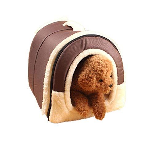 Cuccia morbida e calda per cane e gatto, letto pieghevole, letto per cani, casa con materasso, cuscino rimovibile, gabbia portatile