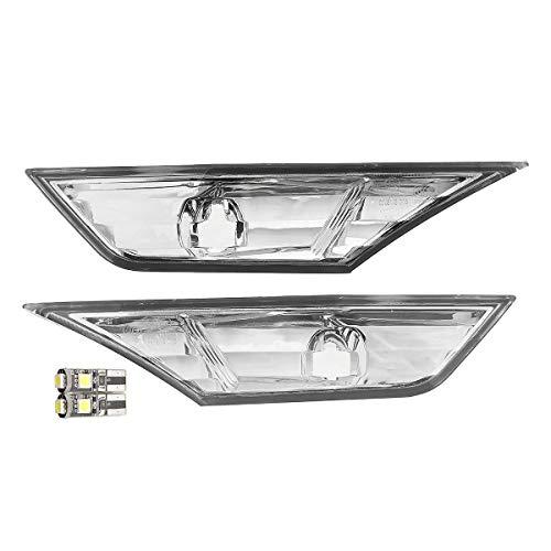 2pcs carro izquierdo/derecho delantero lente transparente marcador de parachoques Luz de placa de luz para Honda Civil 10.18 Hudson Studio