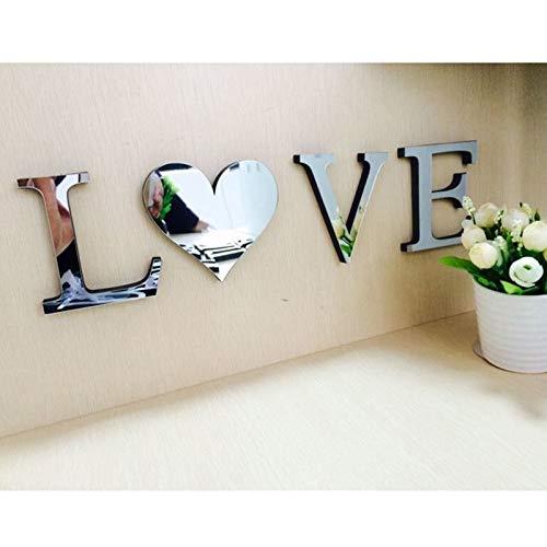 ZunBo - Decorazione Murale Adesivo Casa, Parola Inglese 'LOVE', Camera da letto Dormitorio e Soggiorno Decorazione Parete, Fai-da-te