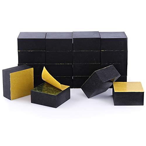 Bases invisibles de goma Pot-up para elevar macetas y otros recipientes, de forma cuadrada y con adhesivo, lote de 20unidades, para macetas de cualquier tamaño de hasta 5 o 6plantas