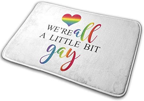 """BLSYP Felpudo were All A Little bit Gay Doormat Anti-Slip House Garden Gate Carpet Door Mat Floor Pads 15.8"""" X 23.6"""""""