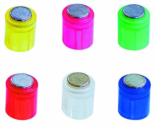 Laurel Power Magnete Cilindro, 14x 19mm, kristallfarben assortiti