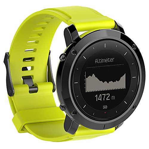 Classicase Correa de Reloj Reemplazo Compatible con Suunto Traverse, la Correa de Reloj Watch Band Accessorios (Pattern 7)