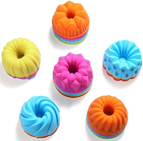 To encounter 3 3 4 inch Silicone Donut Pan Non Stick 24 Pack Full Size Donuts Bagels Pan Silicone product image