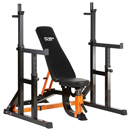 Mirafit Semi Commercial Weight Bench & Squat Rack Set Up