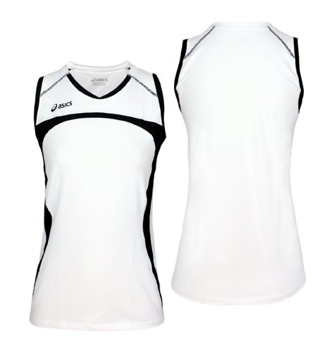 ASICS Women's Ace Jersey (Small, White-Black)