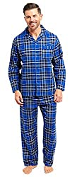 BRAND NEW FOR AUTUMN/WINTER --- Stunning, unique tartan check patterned men's pyjamas. Made from 100% cotton - woven into a brushed fabric (also known as flannel wincy or winceyette). Comfy, warm brushed cotton fabric - perfect for the colder months....