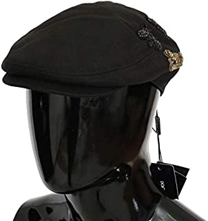 Dolce & Gabbana Black Crystal Amore Bee Applique Hat