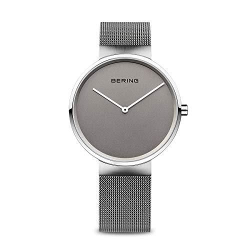 Bering Unisex Analog Quarz Uhr mit Edelstahl Armband 14539-077
