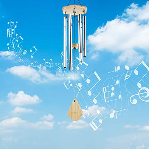 Lemecima Windspiel Garten Klangspiel für Draußen Glockenspiel Windspiel mit Klare Stimme 6 Rohre Windspiel Metall für Heimdekoration Geschenk Einfache Installation
