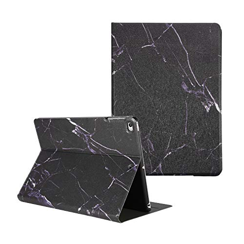 iPad Air/Air 2 Case, iPad 9.7 inch 2018/2017 Case, Artcase Marble Case PU Leather Stand Cover with Auto Wake/Sleep for Apple iPad Air 1/2, iPad 5th/6th Generation (Black Marble)