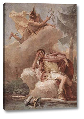 "Mercury Appearing to Aeneas by Giovanni Battista Tiepolo - 14"" x 20"" Gallery Wrap Canvas Art Print - Ready to Hang"