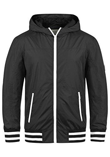 Blend Novan Herren Übergangsjacke Herrenjacke Jacke mit Kapuze, Größe:L, Farbe:Black (70155)