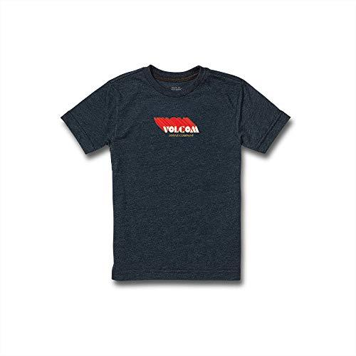 Volcom Extrude Short Sleeve Tee (Big Boys & Little Boys Sizes), Navy, Small