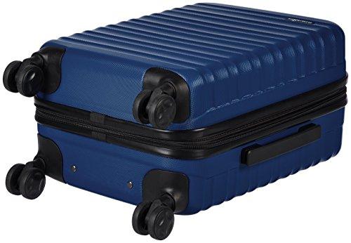 Amazon Basics - Valigia Trolley rigido, 55 cm (utilizzabile come bagaglio a mano di dimensioni standard), Blu scuro