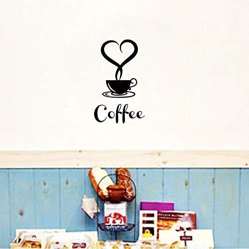 xsongue wandaufkleber Abnehmbare DIY Küche Dekor Kaffeetasse Aufkleber Becher Wandaufkleber Für Familienhaus Kaffeehaus Kunstwanddekoration