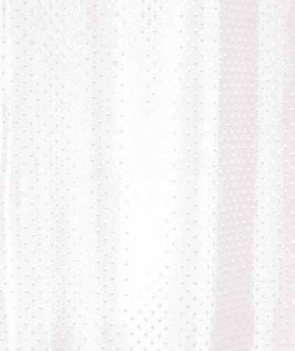 Luxxur Plus Duschvorhang, Polyester, Diamantenmuster, 50 g, beschwerter Saum, Breite 240 cm x Länge 200 cm, Weiß