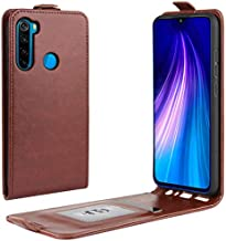 HualuBro Xiaomi Redmi Note 8T Case, Retro PU Leather Shockproof Wallet Folio Flip Case Cover with Card Slot Holder and Magnetic Closure for Xiaomi Redmi Note 8T Phone Case (Brown)