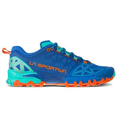 La Sportiva Women's Bushido II Running Shoe, Marine Blue/Aqua, 39.5