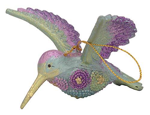 ecosoul Kolibri met vleugels vogel hanger decoratie hanger Pasen Kerstmis 12 cm (blauw-paars-groen)