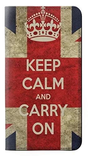 Innovedesire Keep Calm And Carry On Flip Case Cover Custodia per Samsung Galaxy J5 (2016)